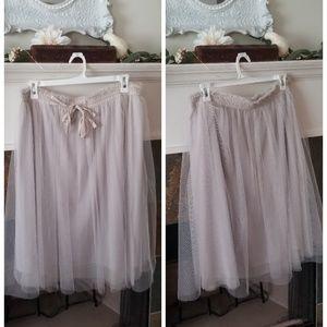 Lauren Conrad Grey Tulle Skirt (xl)